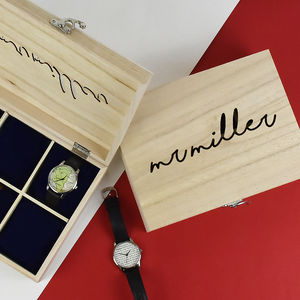 Mr Personalised Wooden Watch Box