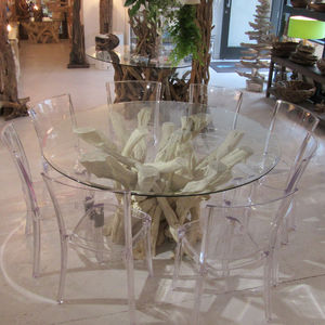 Driftwood Round Dining Table - dining tables
