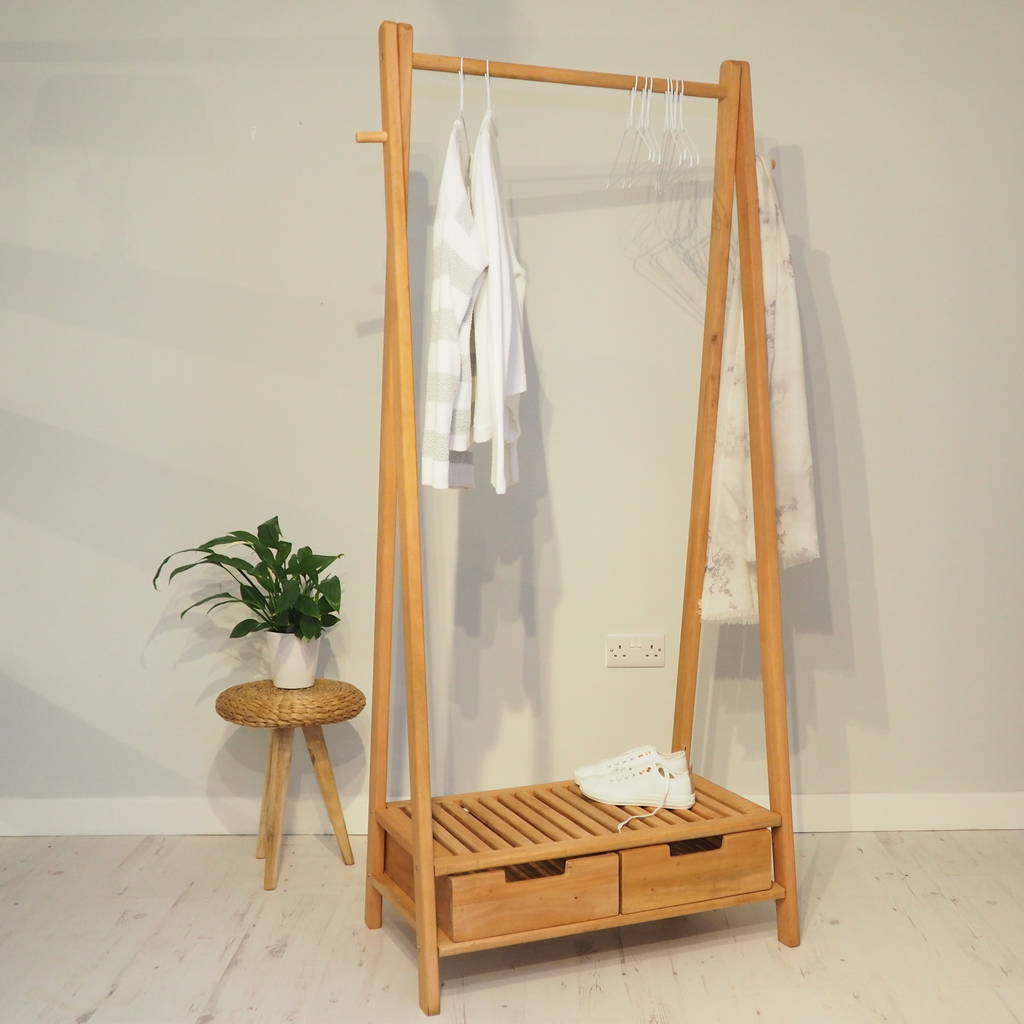 Wooden clothes rack stockholm by za homes