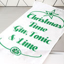 Gin And Tonic Christmas Tea Towel