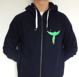 Ring Tailed Parakeet Hooded Zipup Sweatshirt - sweatshirts & hoodies