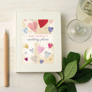 Personalised Wedding Engagement Notebook - personalised engagement gifts