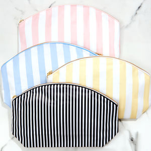 Wash Bag In Stripe - wash & toiletry bags