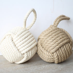 Nautical Jute Door Stop - living room