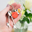 Beagle Dog Enamel Keyring