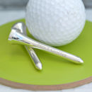 Personalised Silver Plated Golf Tees