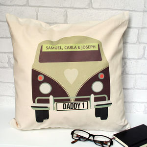 Personalised Camper Van Cushion - bedroom