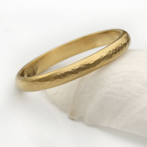 3mm Hammered Wedding Ring In 18ct Gold - men's jewellery