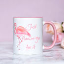 Personalised Pink Flamingo Mug, Inspirational