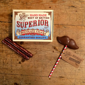 Mr Stanley's Chocolate Cigars And Moustache Lollipop
