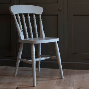 Set Of Four Traditional Spindle Back Chairs