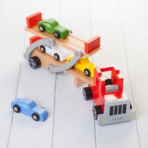 Personalised Red Folding Car Transporter Lorry - personalised