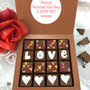 Personalised Message Love And Hearts Chocolates