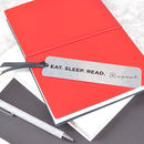 'Eat, Sleep, Read, Repeat' Slogan Bookmark