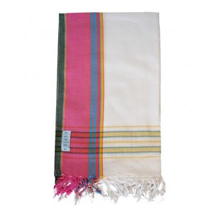 Afiya White Cotton Kikoy - pashminas & wraps