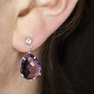 Amethyst Designer Earrings Gift For Her