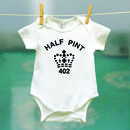 half pint babygrow short sleeves
