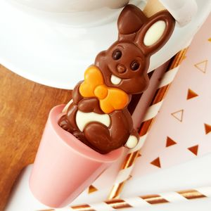 Strawberry Easter Bunny Hot Chocolate Spoon