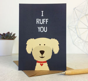 Funny Dog Love / Anniversary Card - cards & wrap