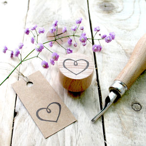 Little Heart Hand Carved Rubber Stamp - stamps & inkpads