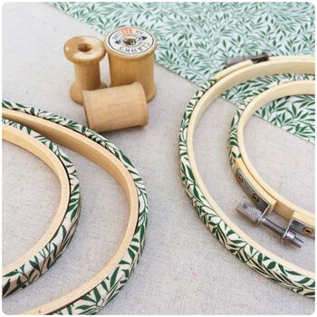 Willow Leaf Embroidery Hoop Frame