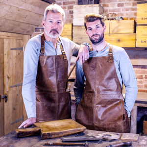 Personalised Leather Artisan Diy Apron - gifts for fathers