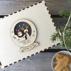 Personalised Santa And Rudolph Christmas Eve Box - christmas eve