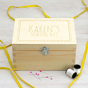 Personalised Sewing Kit Storage Box - sewing boxes
