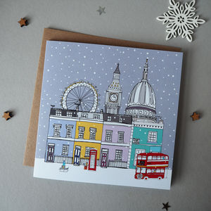 London Christmas Cards Pack Of Five - cards