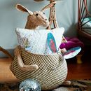 Natural Raffia Animal Storage Basket Kangaroo