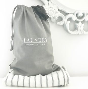Personalised Travel Laundry Bag