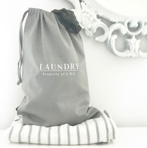 Personalised Travel Laundry Bag - storage bags