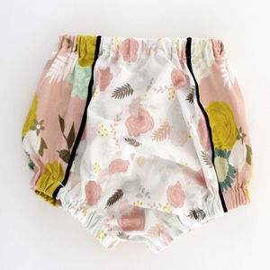 Coral Floral Baby Bloomers / Girls Shorts - clothing