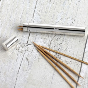 Silver Toothpick Holder - cutlery