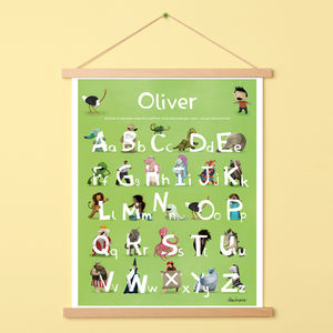 Personalised Alphabet Poster With Hanger - gifts for babies & children sale