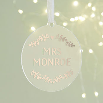 Wife Personalised Christmas Bauble
