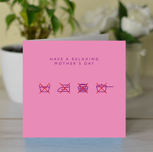 'Have A Relaxing Mother's Day' Card - funny cards