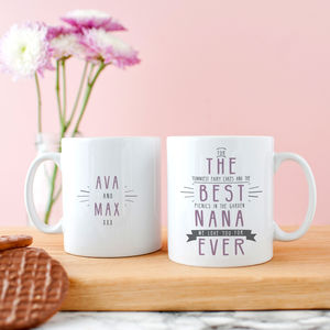 Personalised 'Best Grandma Ever' Secret Message Mug - gifts for grandparents