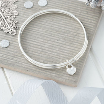 Two People One Love Silver And Gold Double Bangle