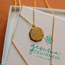 18ct Gold Plated Personalised Map Necklace