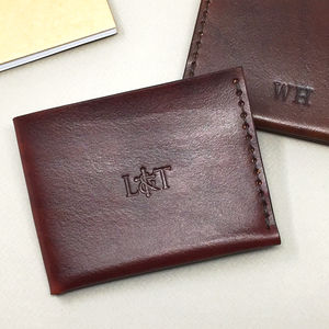 Personalised Men's Leather Wallet