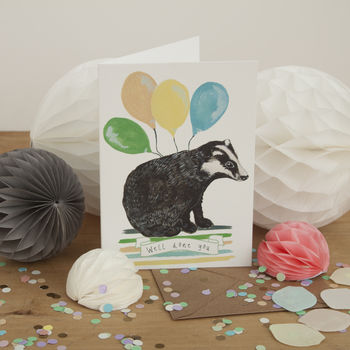 Badger Illustration 'Well Done You' Greeting Card
