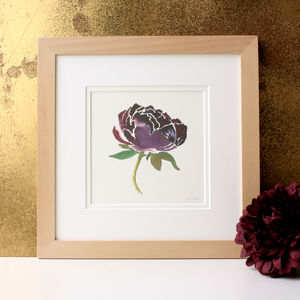 Personalised Favourite Flower Original Watercolour - nature & landscape