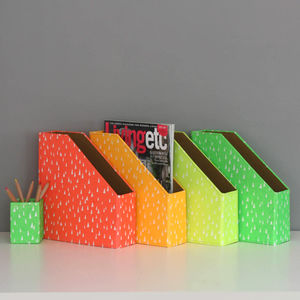 Recycled Fluoro Brights Magazine File - summer sale