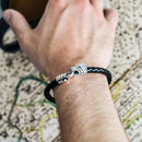Sterling Silver And Leather Animal Clasp Bracelets
