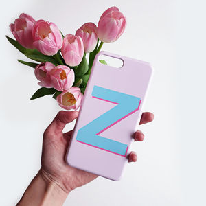 Pink And Teal iPhone And Samsung Alphabet Case