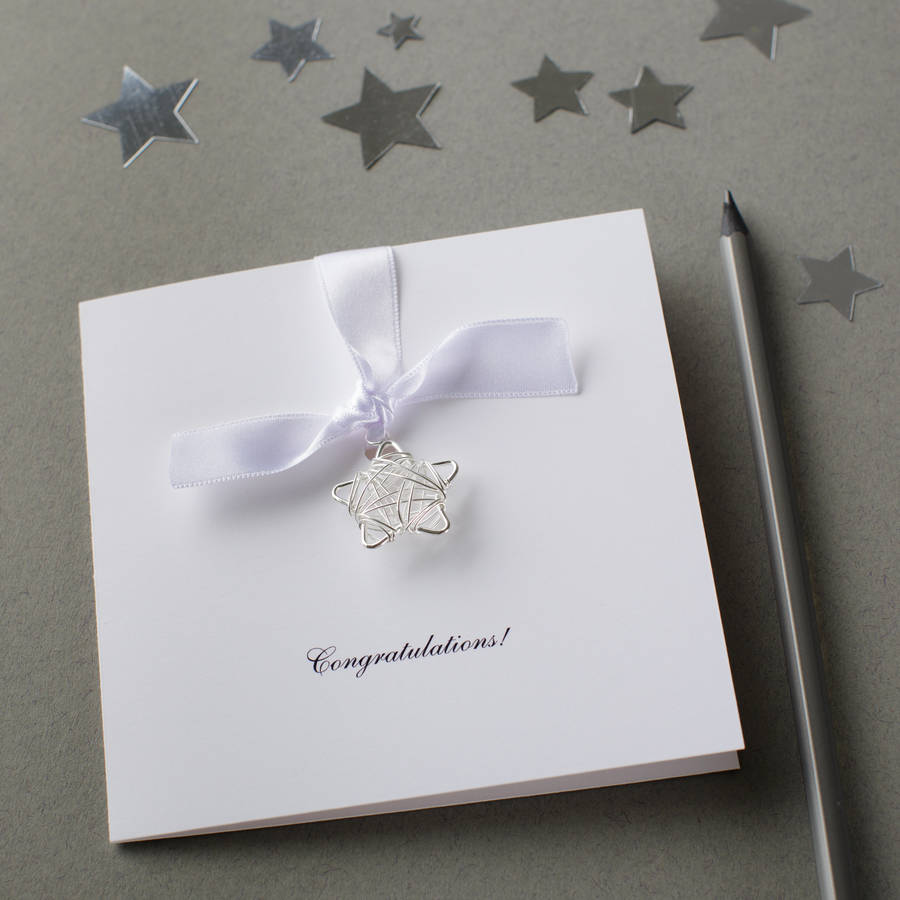 Personalised Congratulations Wire Star Card