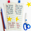 Personalised Embroidered School Teacher Gift Bookmark