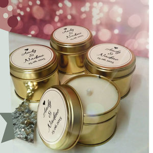 Personalised Wedding Favour Candles In A Can