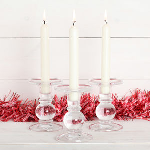 Christmas Glass Candle Holder - tree decorations